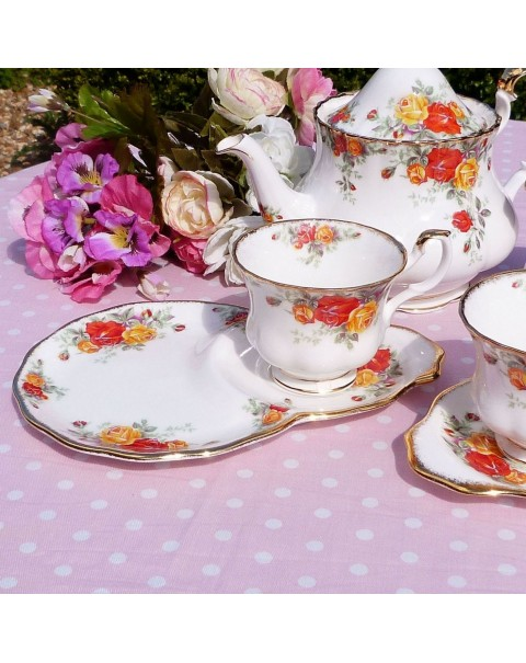 (OUT OF STOCK) ROYAL ALBERT PACIFIC ROSE TEA FOR TWO